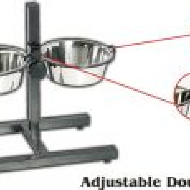 Adjustable Double Dog Dinner