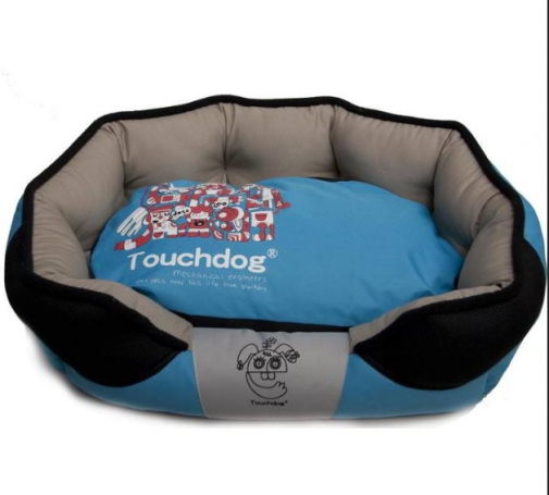 Touchdog Blue/Black Dog Bed Washable